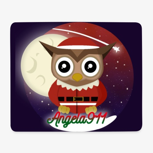 Santaowl extended background - Mouse Pad (horizontal)