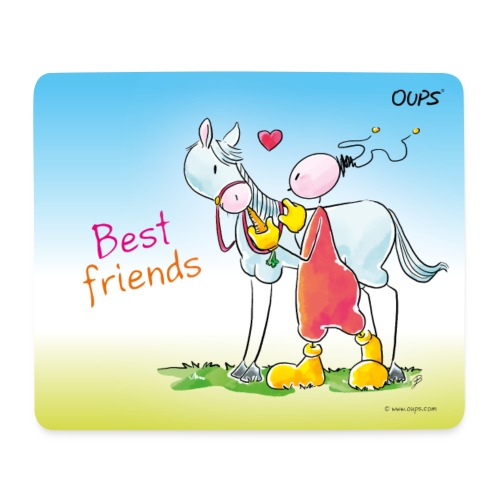 Oups - Best friends - Mousepad (Querformat)