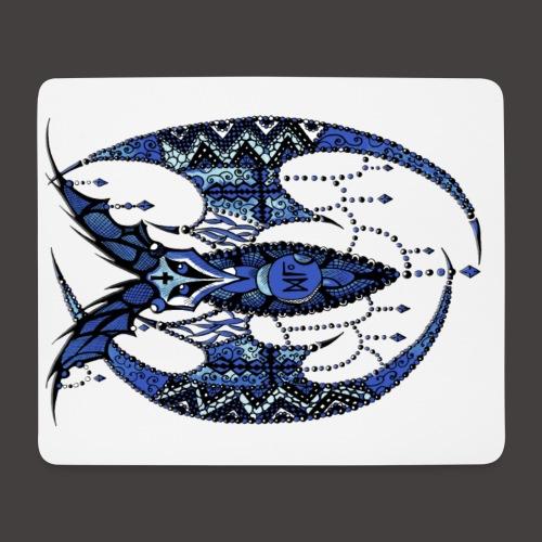 Chauve Souris Dentelle Bleue - Tapis de souris (format paysage)