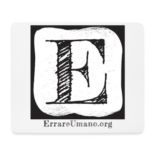 Logo ErrareUmano (scritta nera) - Tappetino per mouse (orizzontale)