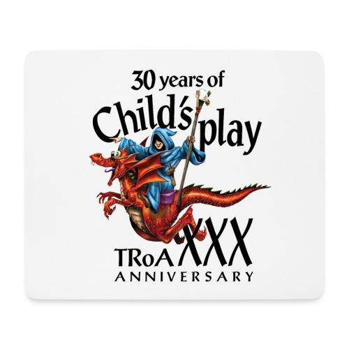 TRoA 30 år - Sort skrift - Mousepad (bredformat)