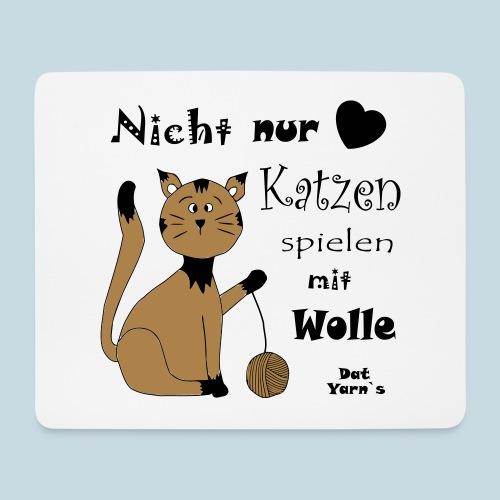 Nicht nur Katzen spielen mit Wolle - Mousepad (Querformat)