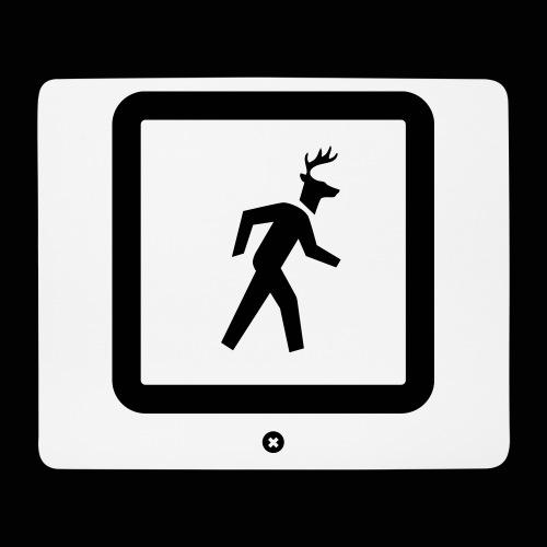 L'homme à la tête de cerf - mascotte officielle - Tapis de souris (format paysage)
