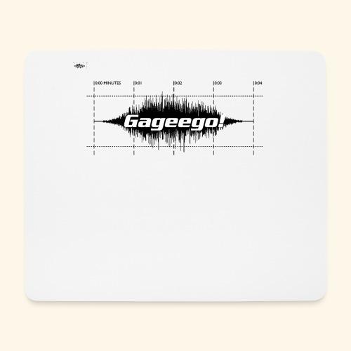 Gageego logga vit text - Musmatta (liggande format)