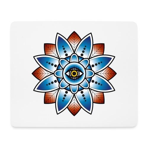 Psychedelisches Mandala mit Auge - Mousepad (Querformat)