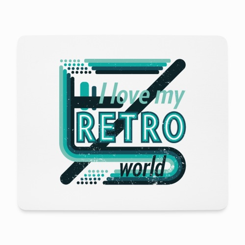 Retro world - Mouse Pad (horizontal)