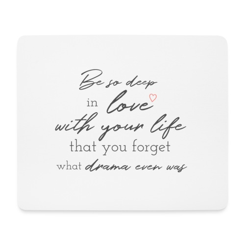 Love life grey - Mousepad (Querformat)
