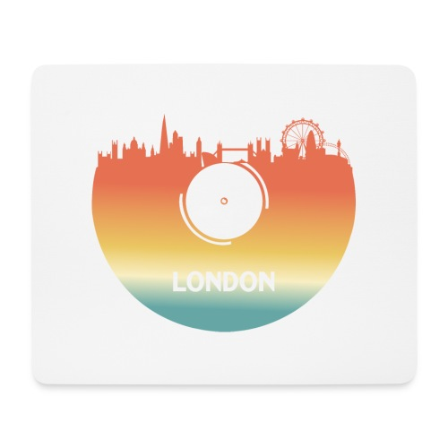 London Skyline Vinyl Schallplatte London Souvenir - Mousepad (Querformat)