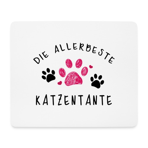 Die allerbeste Katzentante - Mousepad (Querformat)
