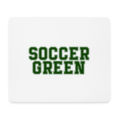 Soccer Green Style Text - Tappetino per mouse (orizzontale)