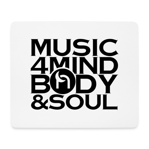 Music 4 Mind, Body & Soul Black - Mouse Pad (horizontal)