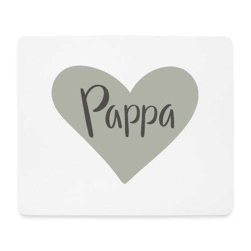 Pappa - hjärta - Musmatta (liggande format)