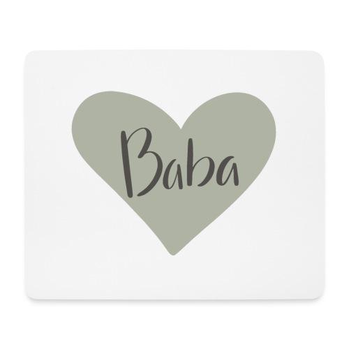 Baba - hjärta - Musmatta (liggande format)