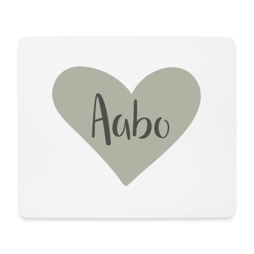 Aabo - hjärta - Musmatta (liggande format)
