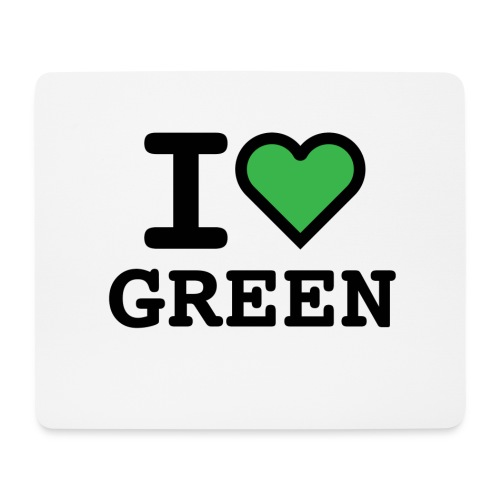 i-love-green-2.png - Tappetino per mouse (orizzontale)