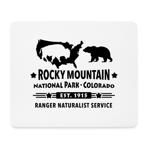 Rocky Mountain Nationalpark Berg Bison Grizzly Bär - Mouse Pad (horizontal)