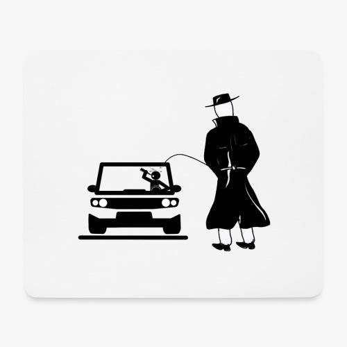 Pissing Man against drunk driving - Mousepad (Querformat)
