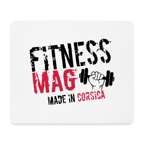 Fitness Mag made in corsica 100% Polyester - Tapis de souris (format paysage)