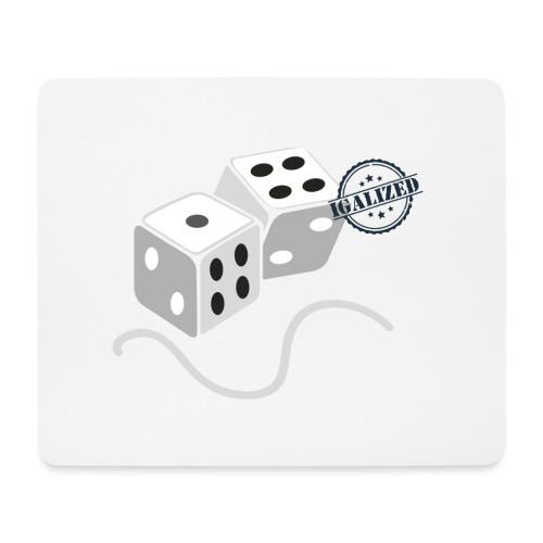 Dice - Symbols of Happiness - Mouse Pad (horizontal)