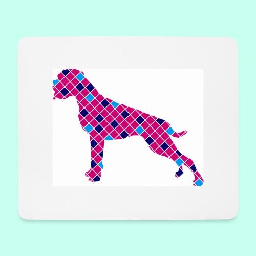 Boxer karriert / Digitaldruck - Mousepad (Querformat)