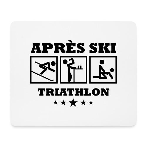 Apres Ski Triathlon | Apreski-Shirts gestalten - Mousepad (Querformat)