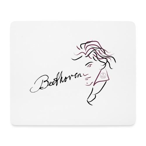 Beethoven (aubergine/schwarz) - Mousepad (Querformat)