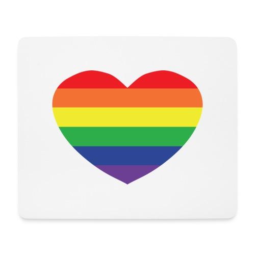 Rainbow heart - Mouse Pad (horizontal)