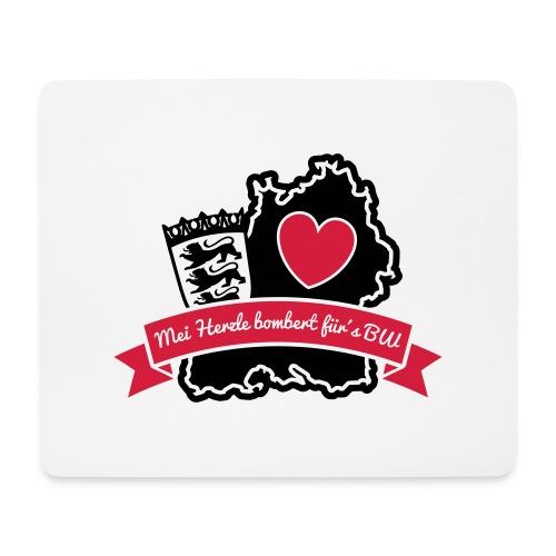 Herzle BW - Mousepad (Querformat)