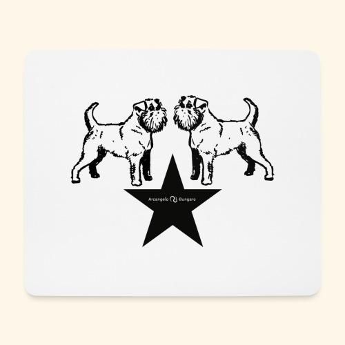 Brussels Griffon Logo - Tapis de souris (format paysage)
