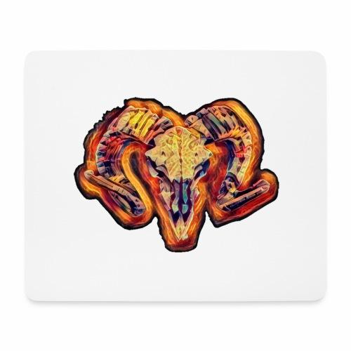 bull on fire medio - Alfombrilla de ratón (horizontal)