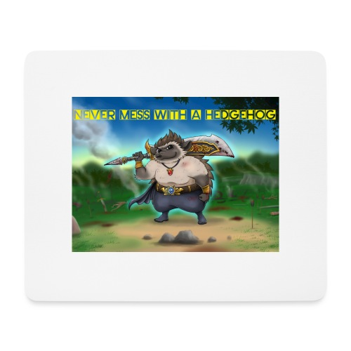 Never mess with a Hedgehog - Mousepad (Querformat)