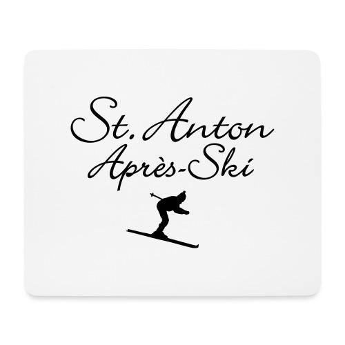 St. Anton Après-Ski Skifahrer - Mousepad (Querformat)