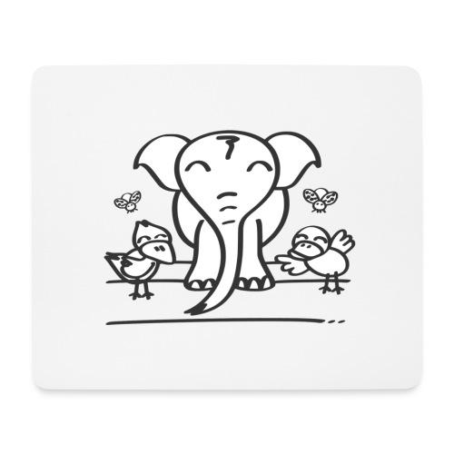 78 elephant - Mousepad (Querformat)