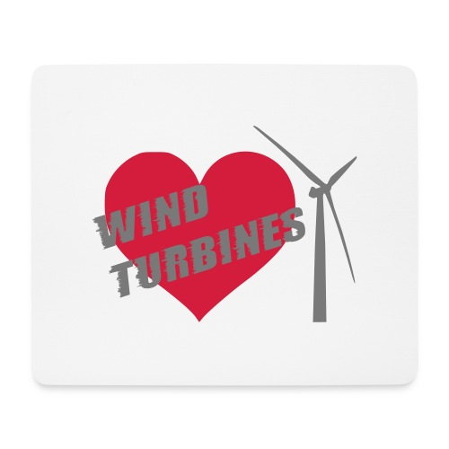 wind turbine grey - Mouse Pad (horizontal)
