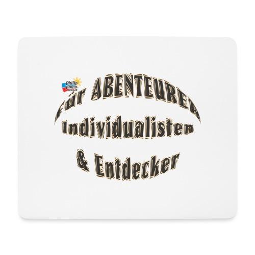 Abenteurer Individualisten & Entdecker - Mousepad (Querformat)
