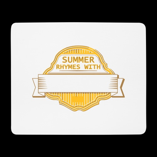CUSTOMIZE SUMMER RHYMES with - Mouse Pad (horizontal)