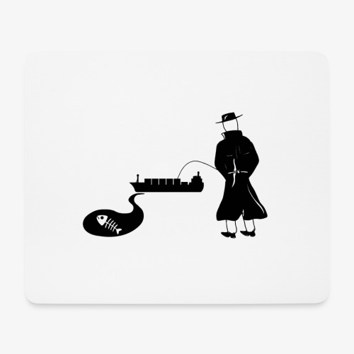 Pissing Man against water pollution - Mousepad (Querformat)