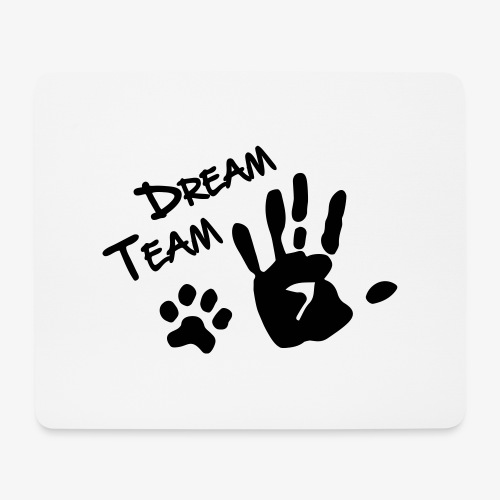 Dream Team Hand Hundpfote - Mousepad (Querformat)