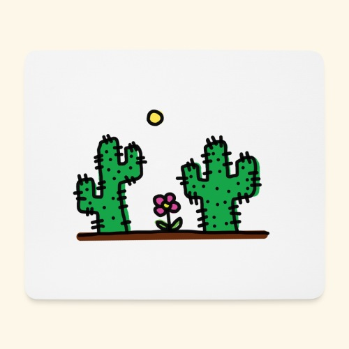 Cactus - Tappetino per mouse (orizzontale)