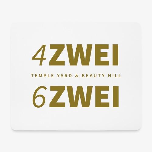 4 zwei 6 zwei // Temple Yard & Beauty Hill - Mousepad (Querformat)