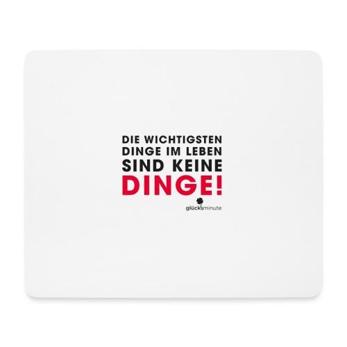 Motiv DINGE schwarze Schrift - Mousepad (Querformat)