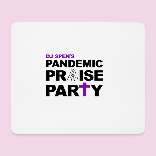 Pandemic Praise Party Logo - Mouse Pad (horizontal)