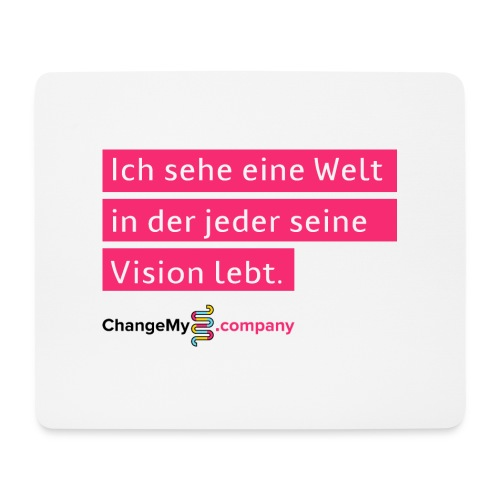 ChangeMy.Company Vision Branding - Mousepad (Querformat)