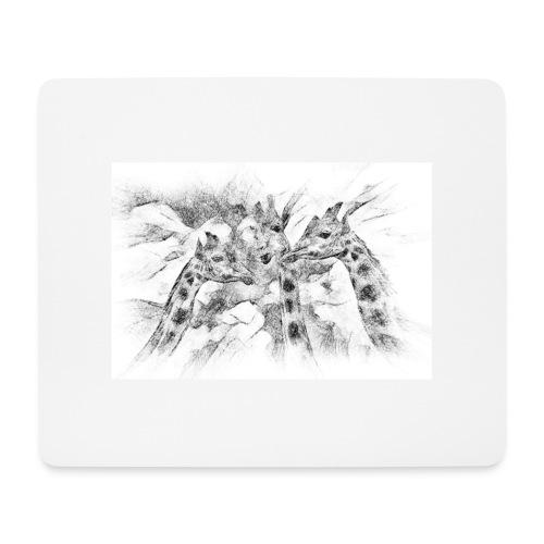 les girafes bavardes - Tapis de souris (format paysage)