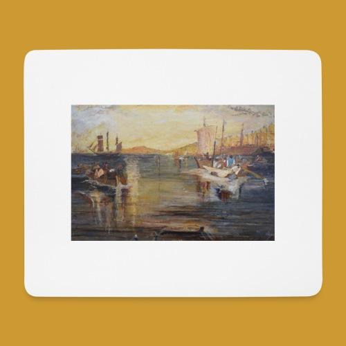 White Fishing - Mark Noble Art - Mouse Pad (horizontal)