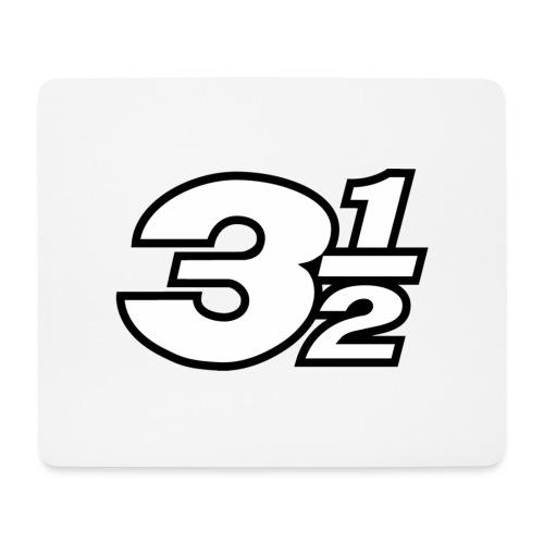 Three and a Half Logo - Mouse Pad (horizontal)