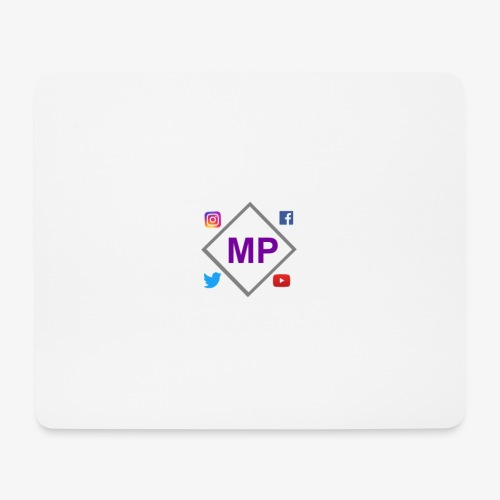 MP logo with social media icons - Mouse Pad (horizontal)