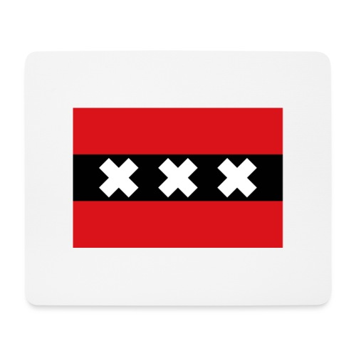 750px Flag of Amsterdam svg - Tappetino per mouse (orizzontale)