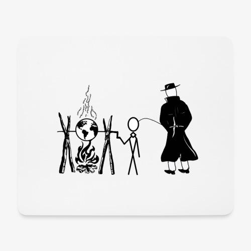 Pissing Man against human self-destruction - Mousepad (Querformat)