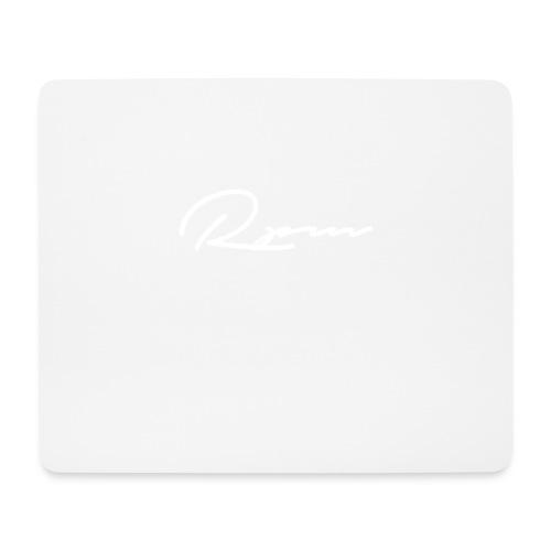 RPM Script logo - white - Mouse Pad (horizontal)